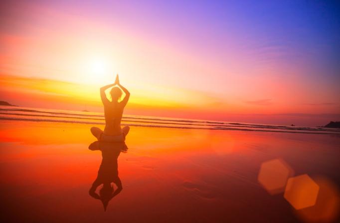 meditating-at-sunset